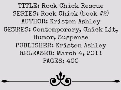 Rock Chick Rescue (Rock Chick Series, Book #2) by Kristen Ashley | Review on www.bxtchesbeblogging.com