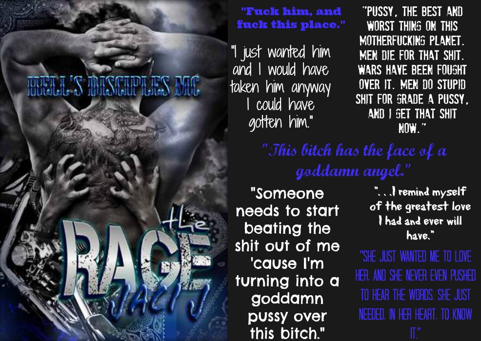 The Rage (Hell's Disciples MC Series, Book #3) by Jaci J | Review on www.bxtchesbeblogging.com