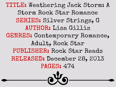 Weathering Jack Storm (Silver Strings G-Series, Book #2) by Lisa Gillis | Review on www.bxtchesbeblogging.com