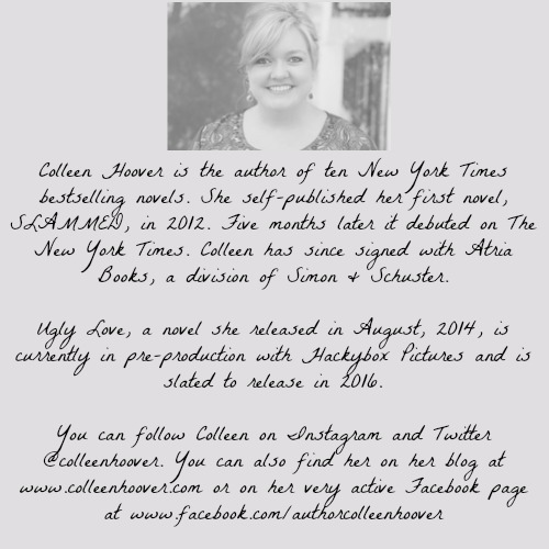 Colleen Hoover | www.bxtchesbeblogging.com