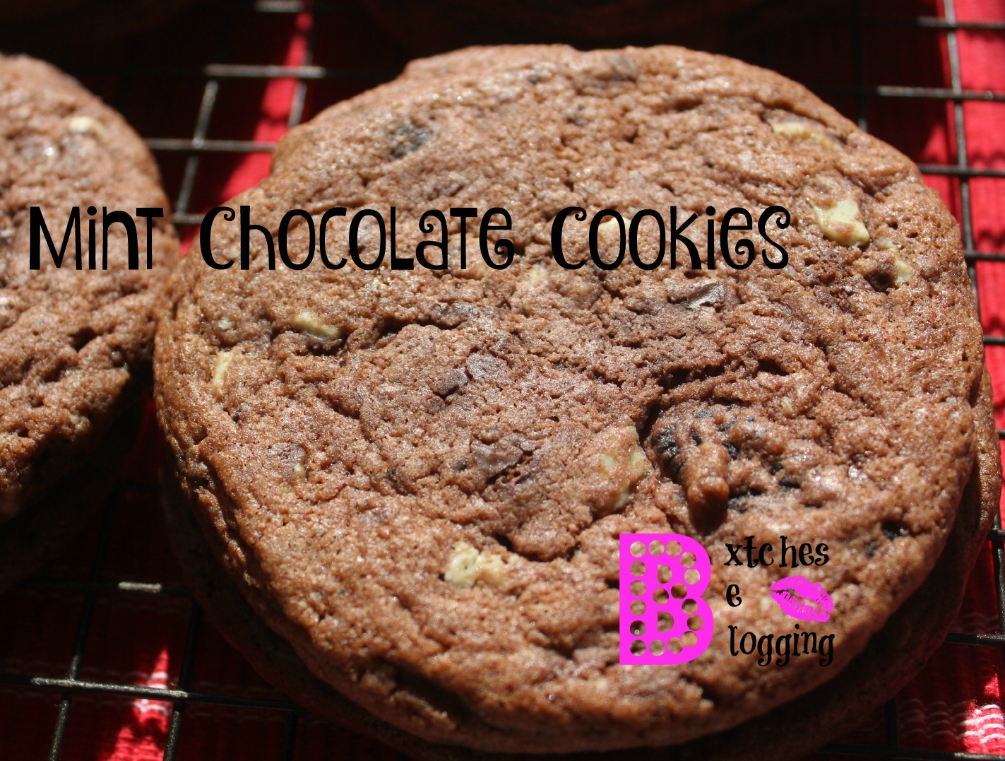 Mint Chocolate Cookies | Recipe on www.bxtchesbeblogging.com