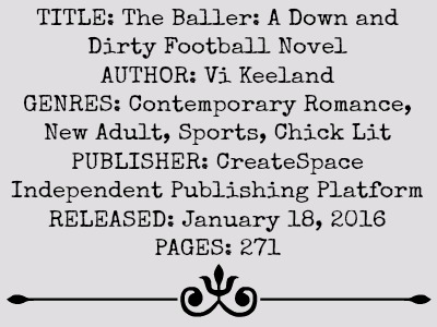 The Baller by Vi Keeland | Review on www.bxtchesbeblogging.com