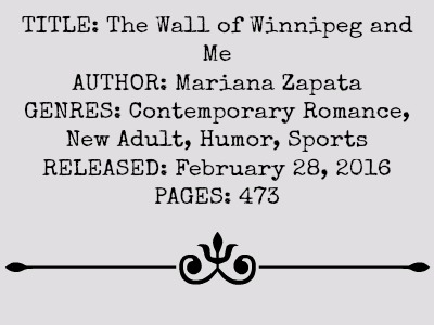 The Wall of Winnipeg and Me by Mariana Zapata | Review on www.bxtchesbeblogging.com