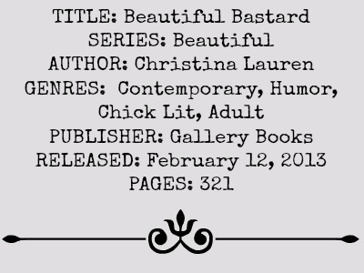 Beautiful Bastard (Beautiful Series, Book #1) by Christina Lauren | Review on www.bxtchesbeblogging.com