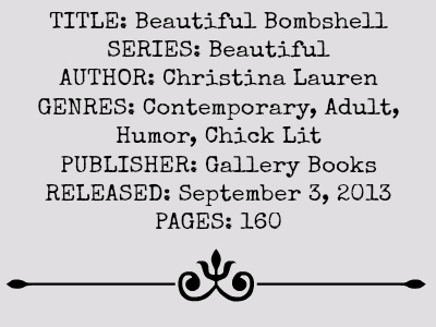 Beautiful Bombshell (Beautiful Series, Book #4) by Christina Lauren | Review on www.bxtchesbeblogging.com