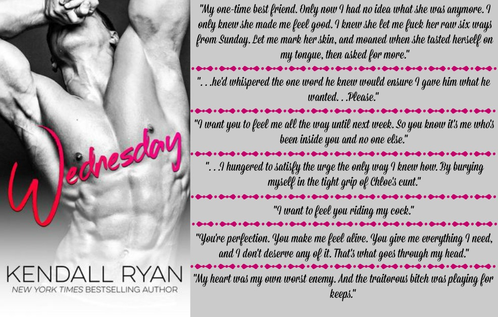 Wednesday by Kendall Ryan | Review on www.bxtchesbeblogging.com