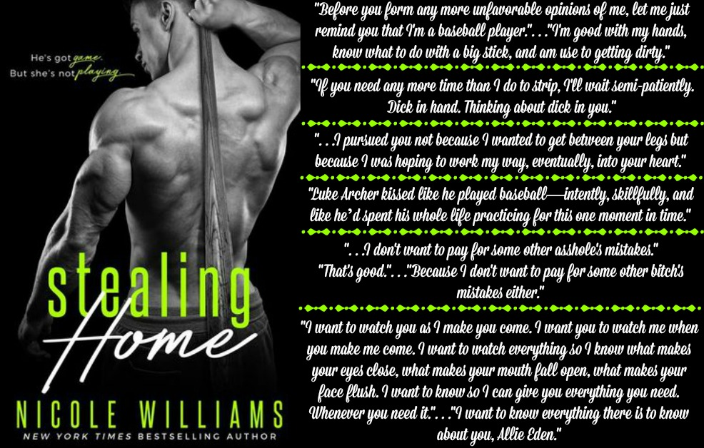 Stealing Home by Nicole Williams | Review on www.bxtchesbeblogging.com