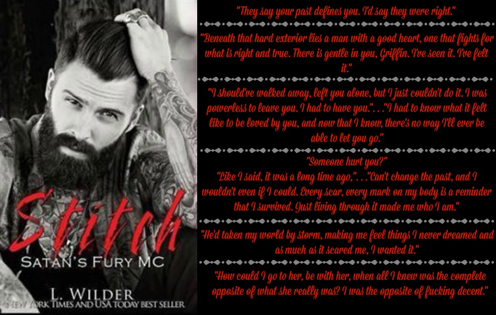 Stitch (Satan's Fury MC Series, Book #2) by L. Wilder | Review on www.bxtchesbeblogging.com