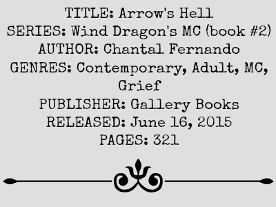 Arrow's Hell (Wind Dragons MC Series, Book #2) by Chantal Fernando | Review on www.bxtchesbeblogging.com