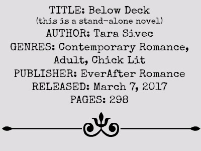 Below Deck by Tara Sivec | Review on www.bxtchesbeblogging.com