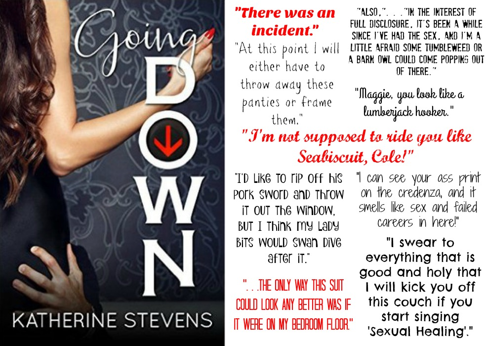 Going Down (The Elevator Series, Book #1) by Katherine Stevens | Review on www.bxtchesbeblogging.com