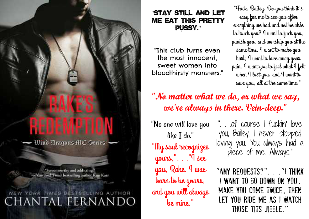 Rake's Redemption (Wind Dragons MC Series, Book #4) by Chantal Fernando | Review on www.bxtchesbeblogging.com