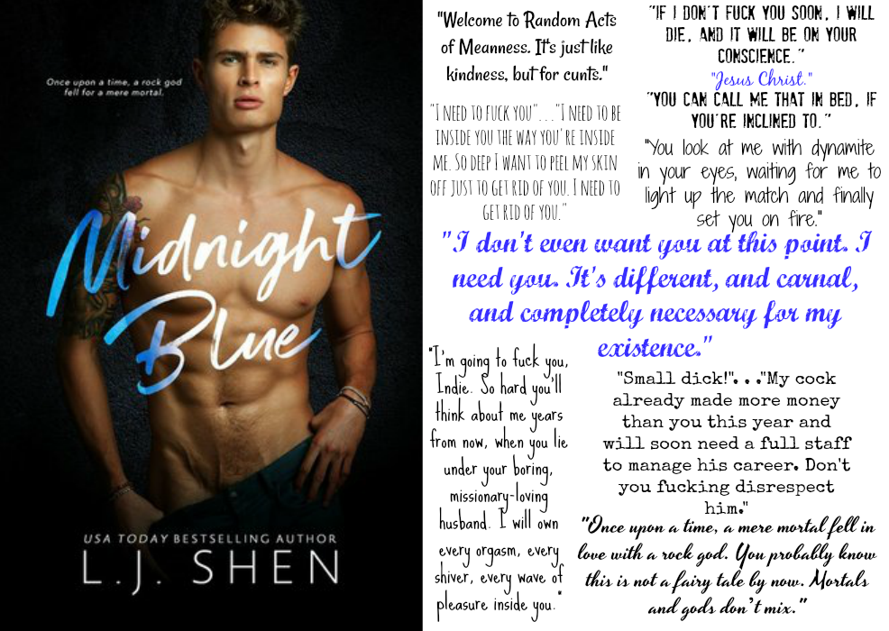 Midnight Blue (Hollywood Chronicles Series, Book #1) by L.J. Shen | Review on www.bxtchesbeblogging.com